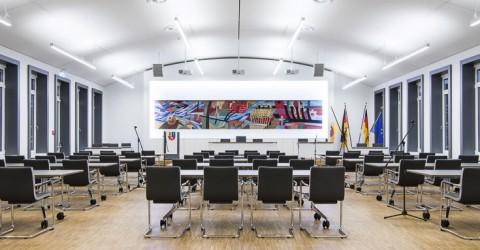 Sitzungssaal Landkreis Stade nachher
